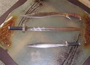 Kopis and Xiphos swords
