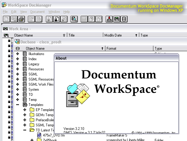 documentum workspace about